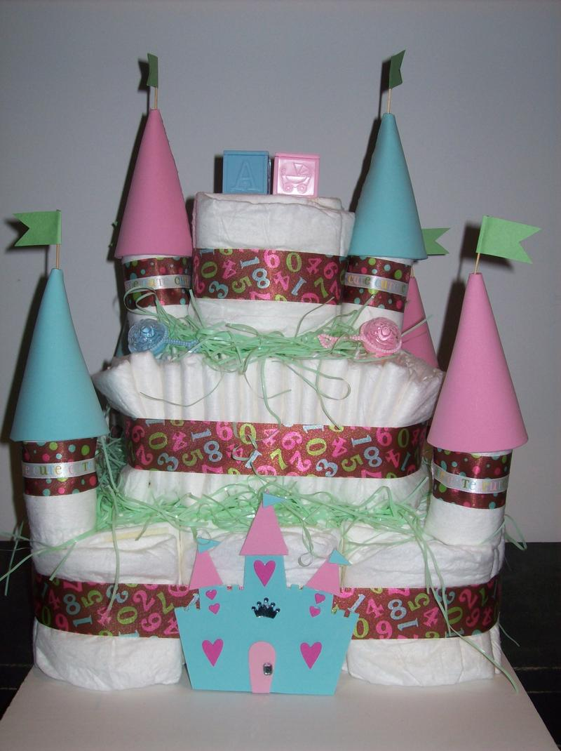 Write on new jersey tag archive diaper cakes for Baby shower diaper decoration