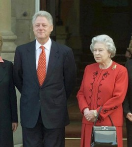 Queen with Bill Clinton
