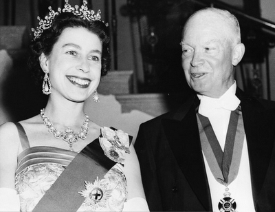 Queen with Eisenhower