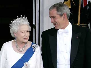 Queen with George W. Bush